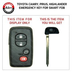 EMERGENCY KEY FOR TOYOTA CAMRY, PRIUS, HIGHLANDER