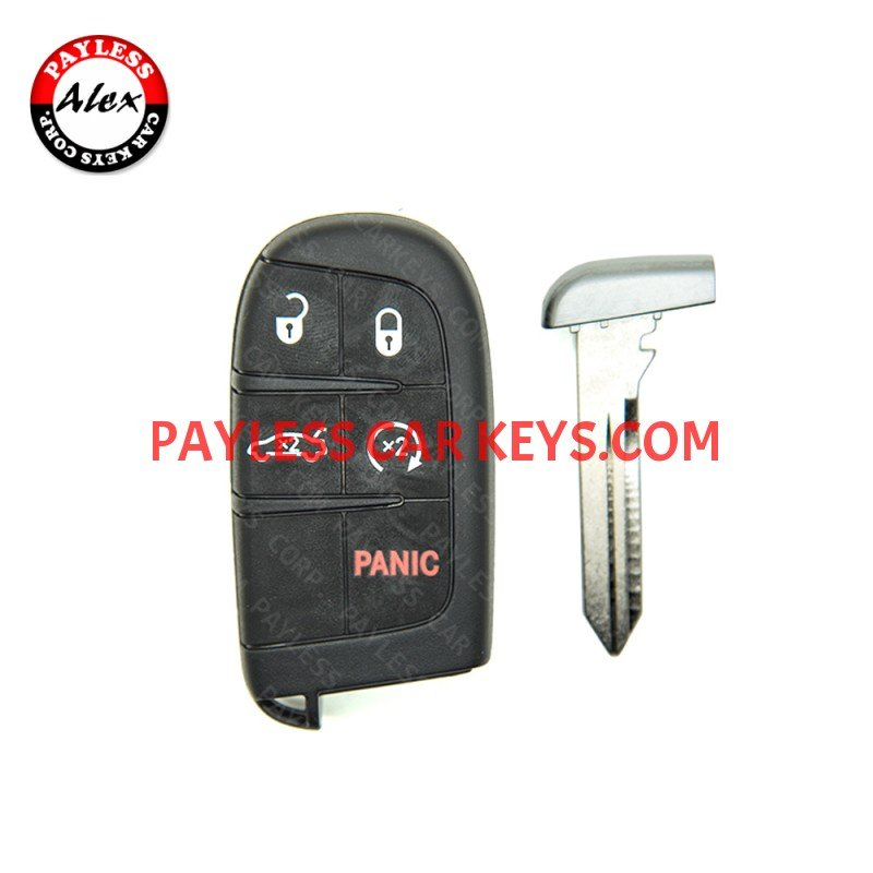 SMART KEY WITH SERVICE KEY FOR CHRYSLER 300 2011-2018