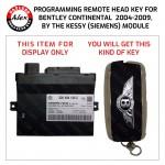 BENTLEY CONTINENTAL REMOTE HEAD KEY BY KESSY MODULE