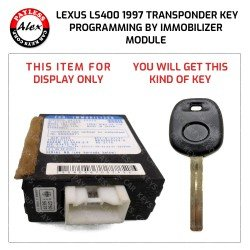 KEY PROGRAMMED BY IMMOBILIZER MODULE FOR LEXUS LS400 1997