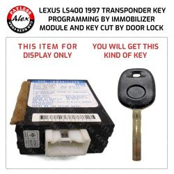 KEY PROGRAMMED AND KEY CUT BY DOOR LOCK FOR LEXUS LS400 1997