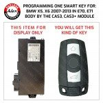 KEY PROGRAMMING SERVICE INCLUDES NEW KEY FOR BMW X5 2007+