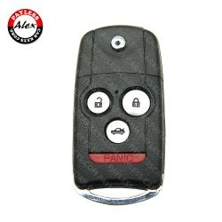 FLIP KEY SHELL WITH 46 CHIP (4 BUTTONS) FOR ACURA