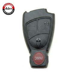 MERCEDES A, B, C, E, ML, S, CLK, CL, CLS CLASS KEY SHELL 3 BUTTON