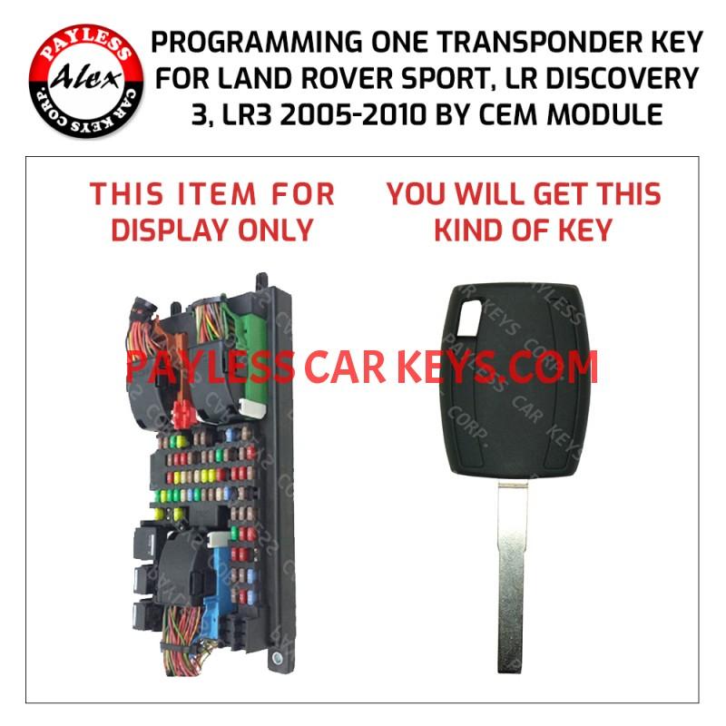 Land Rover Lr3 Rr Sport Key Programming Service