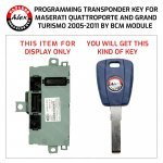 KEY PROGRAMMING SERVICE FOR MASERATI