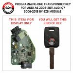 KEY PROGRAMMING SERVICE FOR AUDI A6 AND Q7