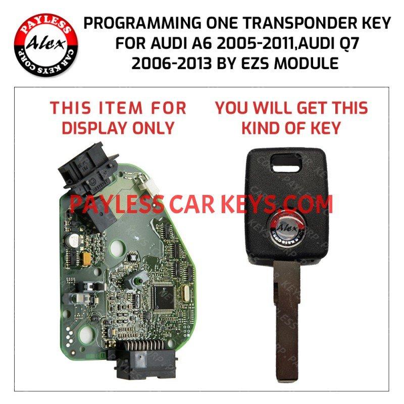 Audi A6 And Q7 Key Programming Service