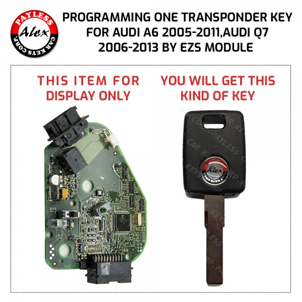 AUDI A6 AND Q7 KEY PROGRAMMING SERVICE