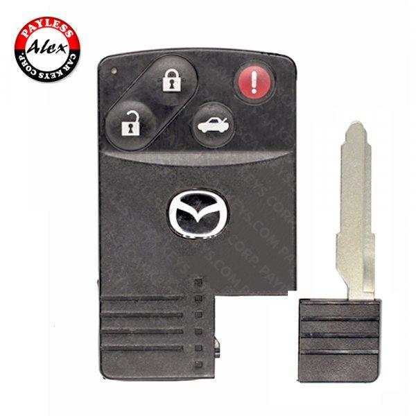 2004 - 2011 MAZDA MX-5 MIATA, RX-8 SMART CARD 4 BUTTONS