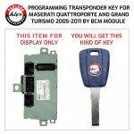 MASERATI 2 TRANSPONDER KEYS CUT AND PROGRAMMED